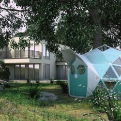 Geoship, una casa 'biocerámica' para personas sin hogar